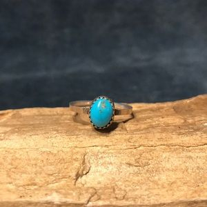 Old Pawn Sterling & Turquoise Ring